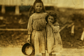 Lewis hine maud and grade daly 5 and 3 years old shrimp pickers bay st