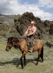Putin horse topless 2