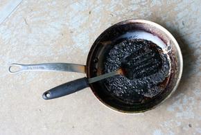 Burnt pan