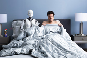 Robot on the bed jpg