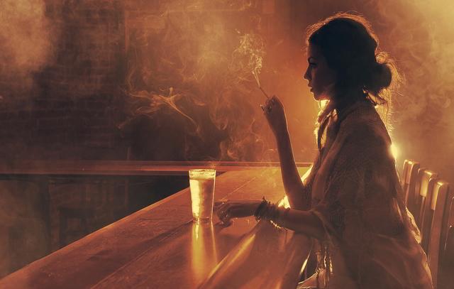 Woman drink bar jpg