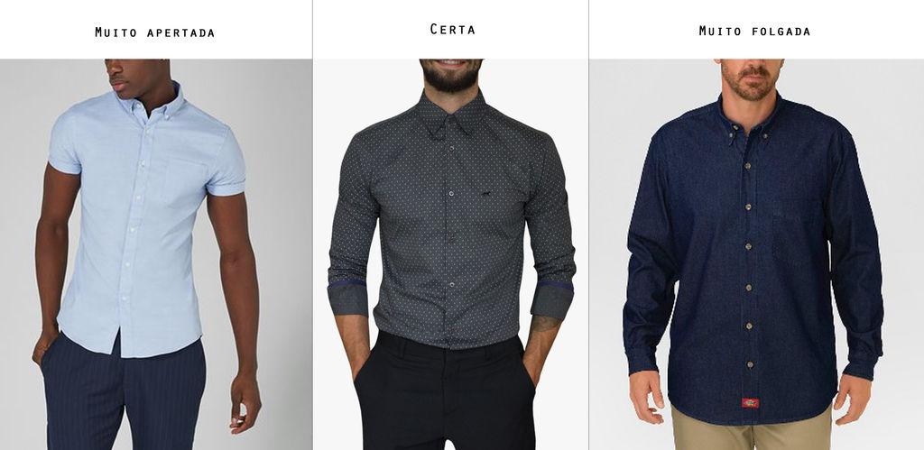 26d18c58e3 Camisa masculina  conhecimentos definitivos